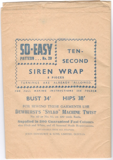 Weldons So-Easy 20 pattern tissue advertising Dewhurst's Sylko machine twist