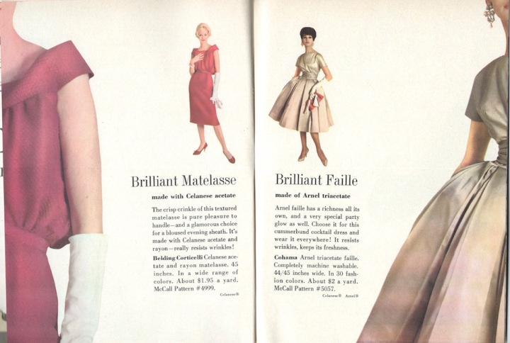 1950s dress patterns McCall's 4999 and McCall's 5057