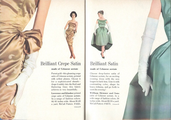 1950s evening dress patterns McCall's 4425 and McCall's 4870
