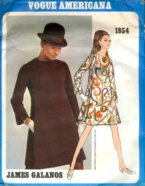1960s James Galanos dress pattern - Vogue Americana 1854