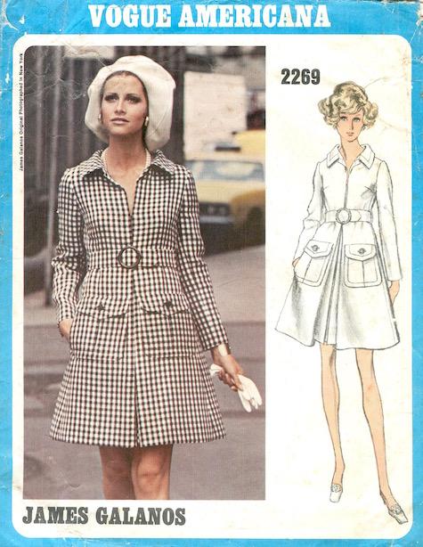 1970s James Galanos dress pattern - Vogue 2269