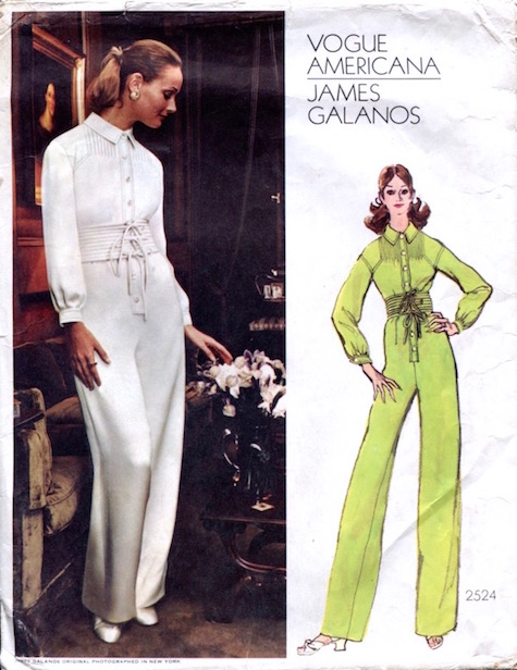 1970s James Galanos jumpsuit pattern - Vogue 2524