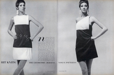 Marisa Berenson photographed by Gianni Penati in Dior patterns 1787 and 1792
