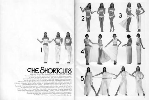China Machado: The Shortcuts. Vogue Patterns, June/July 1973.