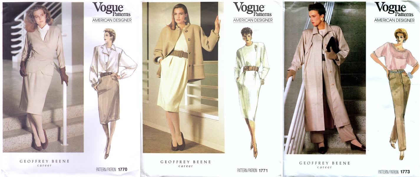77464acea39e3 Vogue 1770, 1771, 1773 by Geoffrey Beene