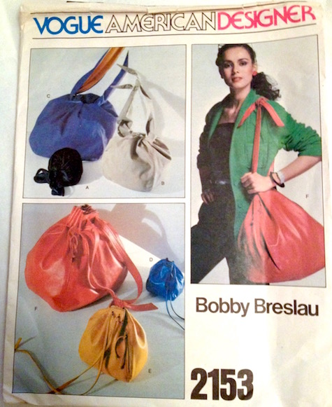 1970s Bobby Breslau handbag pattern Vogue 2153