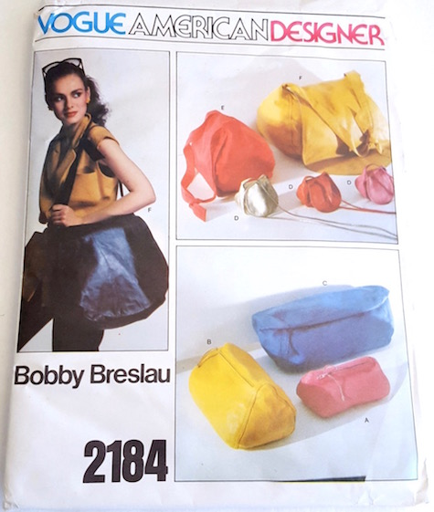 1970s Bobby Breslau handbag pattern Vogue 2184