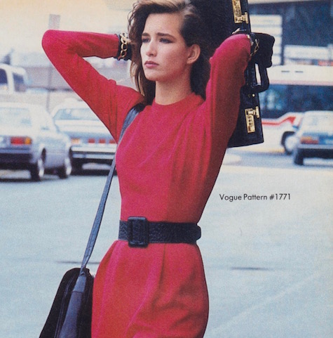 1980s Geoffrey Beene dress pattern Vogue 1771 photographed for Vogue by Denis Piel