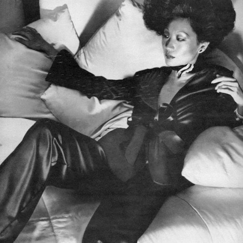 Detail - model photographed in Vogue 8855 by Chris von Wangenheim, 1974