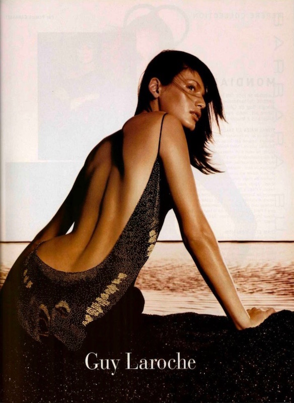 A backless dress in Guy Laroche advertising campaign, Spring 2002