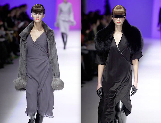 Mei Xiao Zhou for Guy Laroche Fall 2001 runway