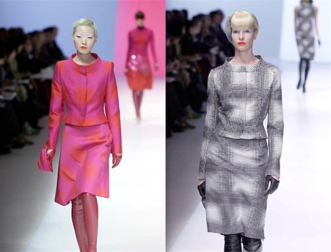 Vogue 2689 - two versions on the Guy Laroche Fall 2001 runway