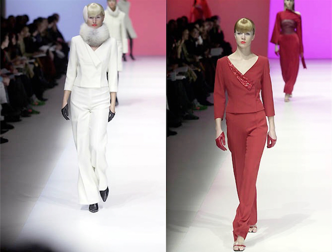 Vogue 2668 - white and red versions on the Guy Laroche Fall 2001 runway