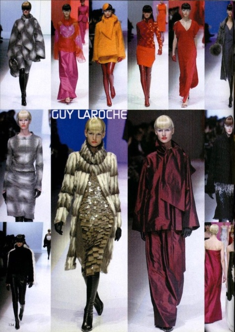 Guy Laroche Fall 2001 collection by Mei Xiao Zhou