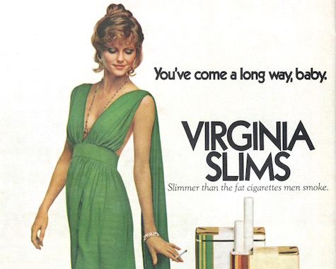 Cheryl Tiegs in a 1975 Virginia Slims / Vogue Patterns sewing ad