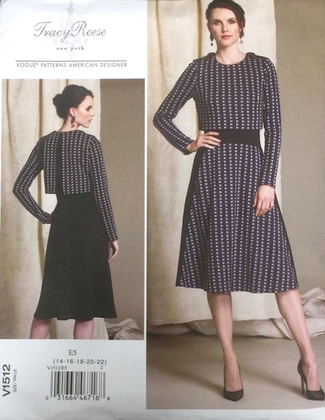 Tracy Reese FW 2015 dress pattern Vogue 1512