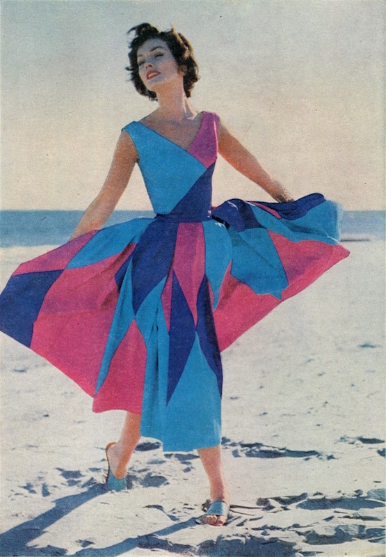 McCall's 3980 by Emilio of Capri photographed on the beach by Howell Conant, McCall's Pattern Book, Spring 1957