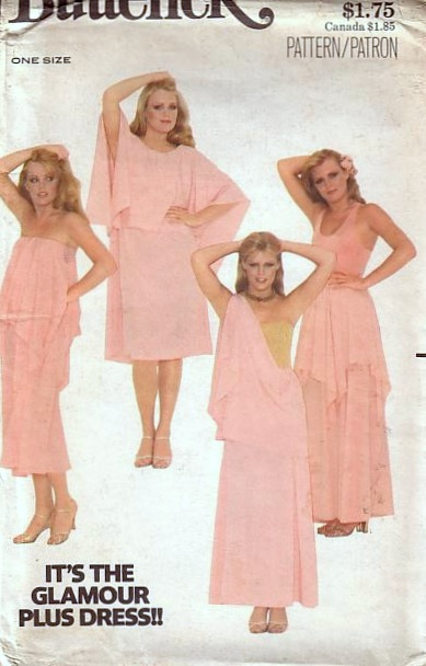 It's the Glamour Plus Dress!! Butterick 5683 (ca. 1977)