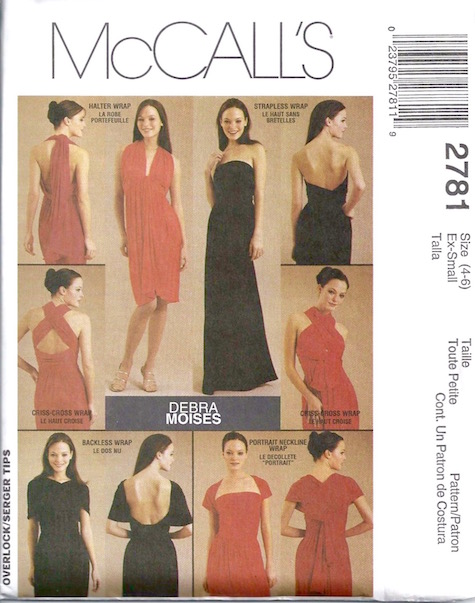 Debra Moises dress pattern McCalls 2781