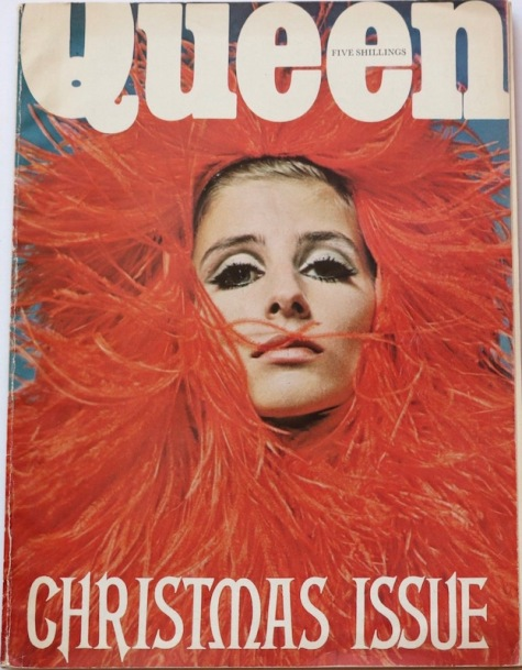 1960s Queen Christmas cover featuring Jill Kennington photographed by David Montgomery