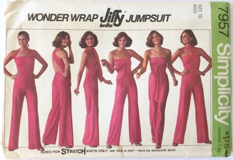 1970s Wonder Wrap Jiffy knits Jumpsuit pattern Simplicity 7957