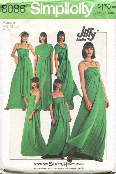 1970s Jiffy knits dress pattern Simplicity 8086