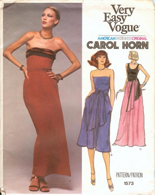 1970s Carol Horn dress pattern Vogue 1573