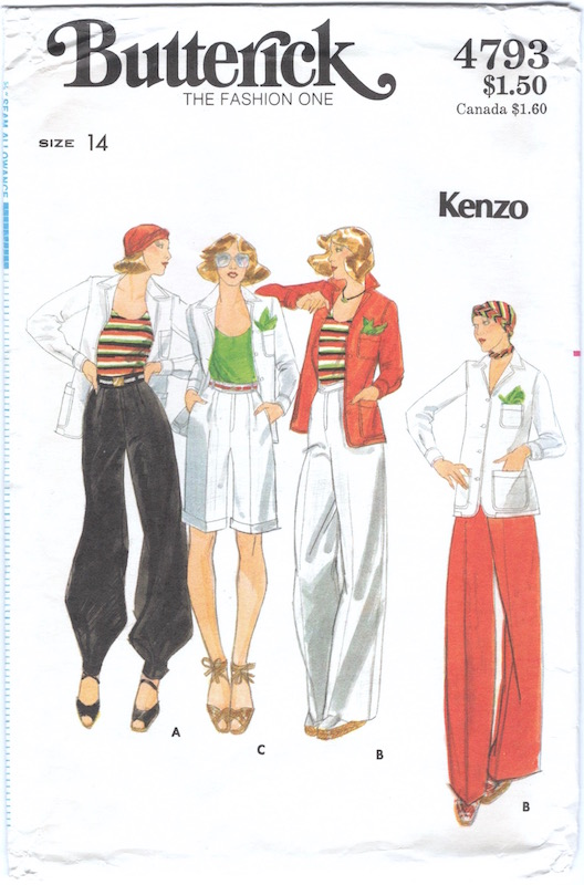 1970s Kenzo pattern Butterick 4793
