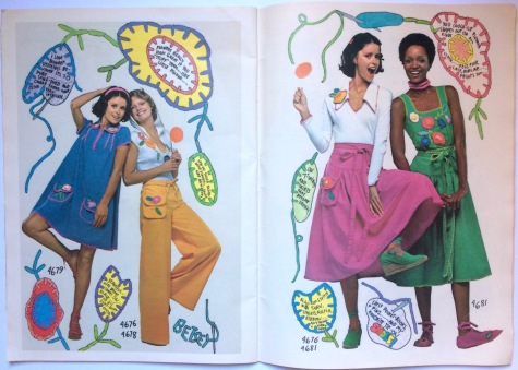 1970s Betsey Johnson patterns in Butterick 4679, 4676, 4678; 4676, 4681