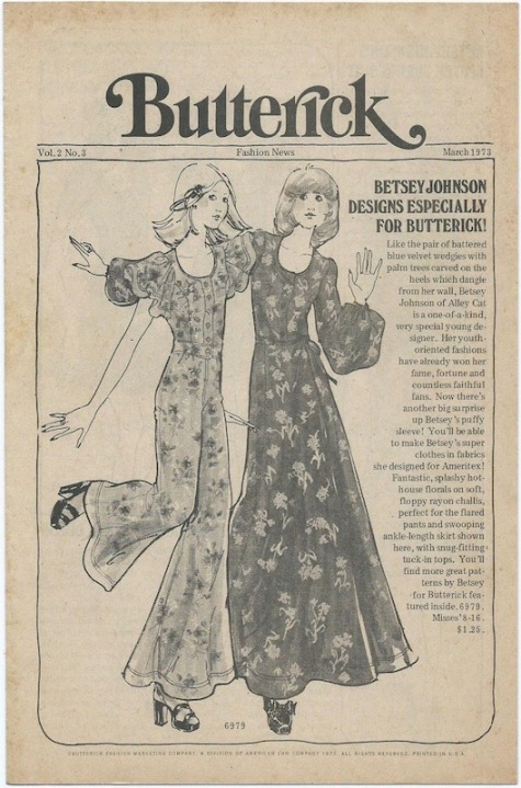 1970s Betsey Johnson Butterick 6979