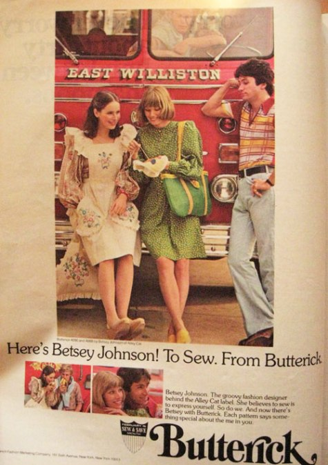 Butterick 4090 and 4088 by Betsey Johnson, 1975