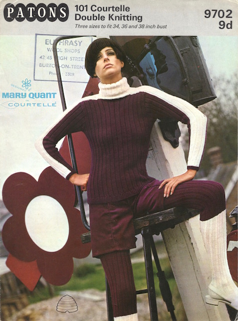 Patons 101 Courtelle Double Knitting no. 9702 by Mary Quant (ca. 1966) - price 9d