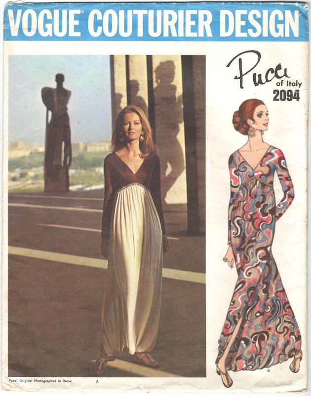 1960s Pucci harem pyjama pattern Vogue 2094 feat. Anne de Zogheb