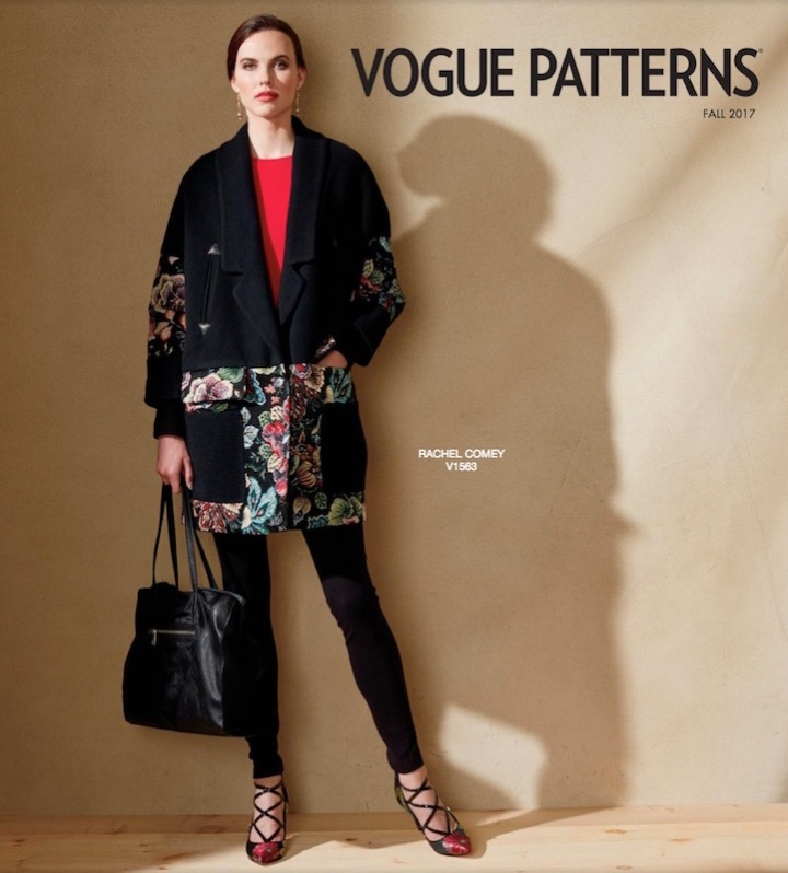 Rachel Comey's Karloff coat (V1563), Vogue Patterns lookbook, Fall 2017
