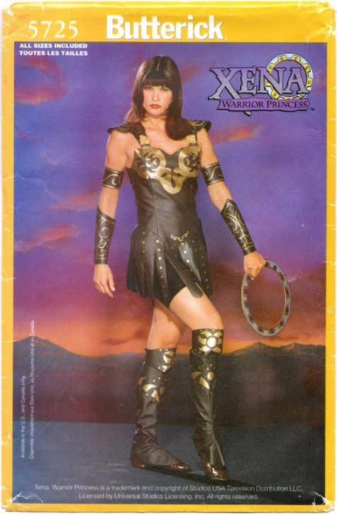 1990s official adult's Xena: Warrior Princess costume, Butterick 5726