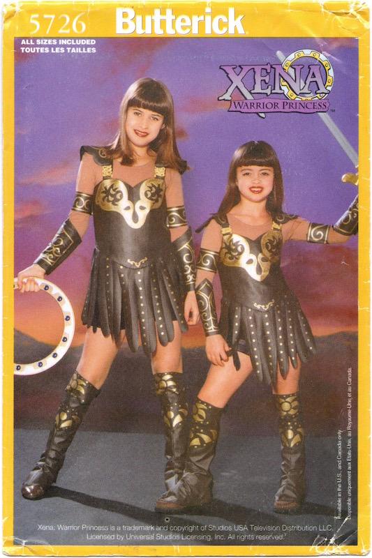 1990s official children's Xena: Warrior Princess costume, Butterick 5726
