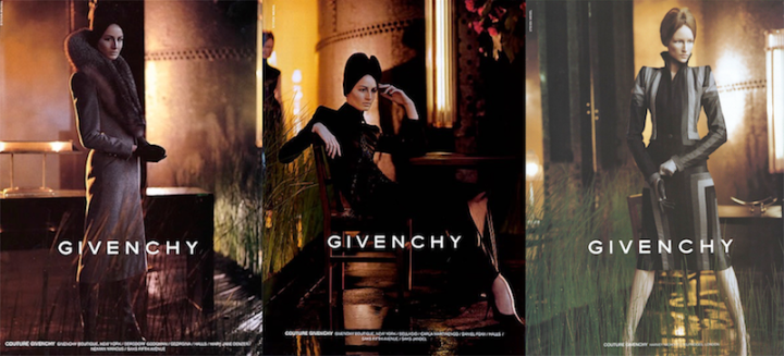 Meisel campaign images for Alexander McQueen's Blade Runner collection for Givenchy, FW 1998