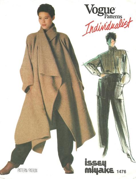 1980s Issey Miyake coat pattern Vogue 1476 by Issey Miyake (1984)