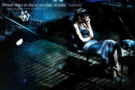Attack ships on fire off the shoulder of Orion... Prada in Vogue Italia, March 1998