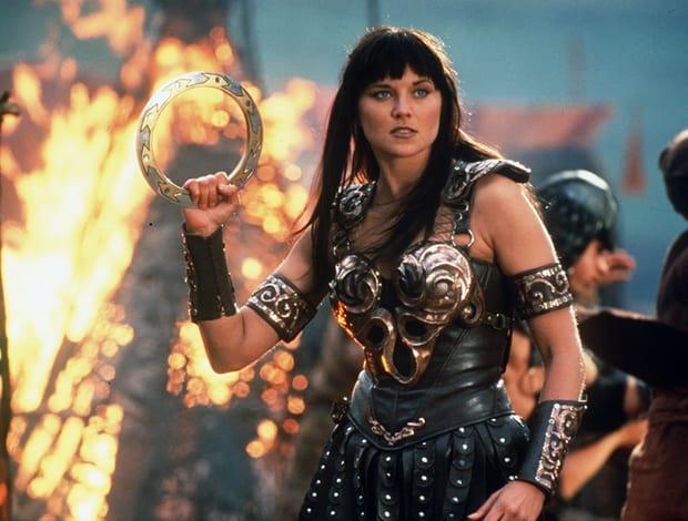 "Lucy Lawless in ""Return of Callisto,"" episode 5 of Xena: Warrior Princess, season 2, 1996"