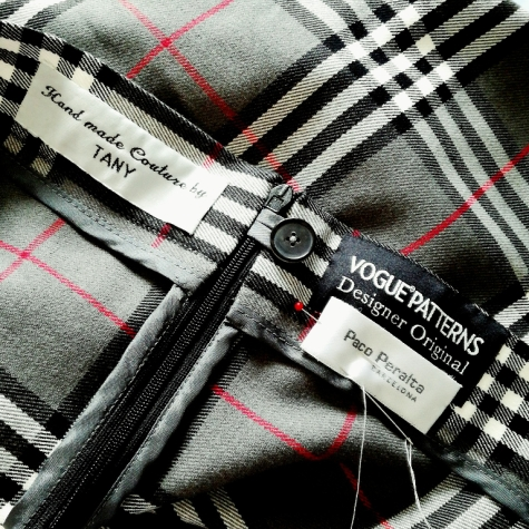 Tany's tartan V1567 by Paco Peralta with sew-in labels