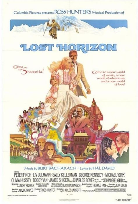 Lost Horizon illustrated movie poster by Howard Terpning