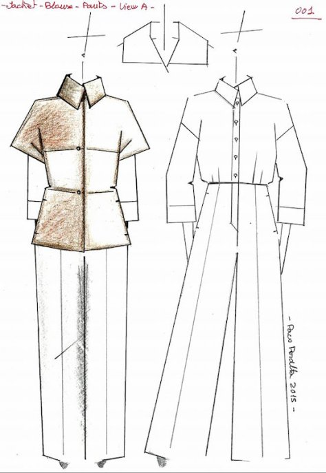 Paco Peralta sketch for Vogue 1526