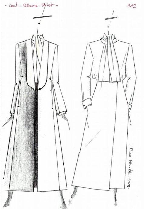 Paco Peralta sketch for Vogue 1527