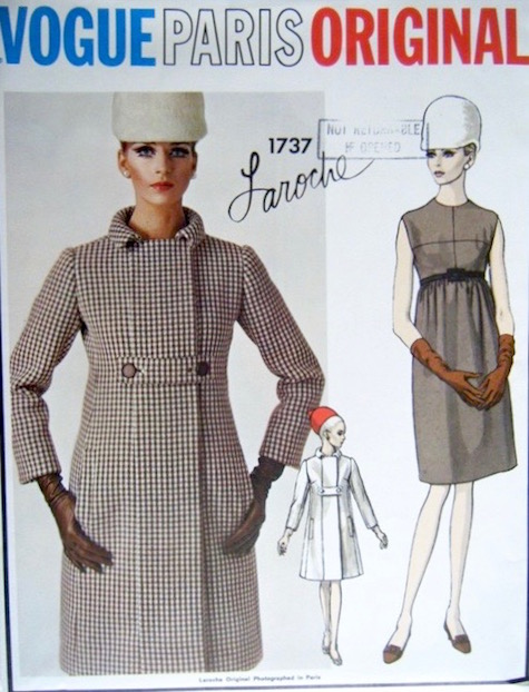 1960s Laroche dress and coat pattern Vogue Paris Original 1737