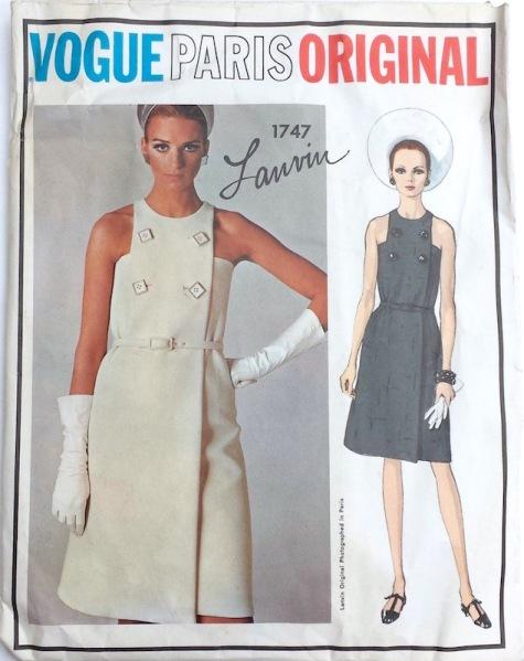 1960s Lanvin dress pattern Vogue Paris Original 1747