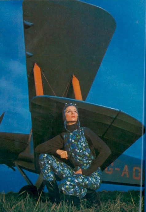 """Out of the Blue,"" Vogue UK Feb 1967 Traeger"