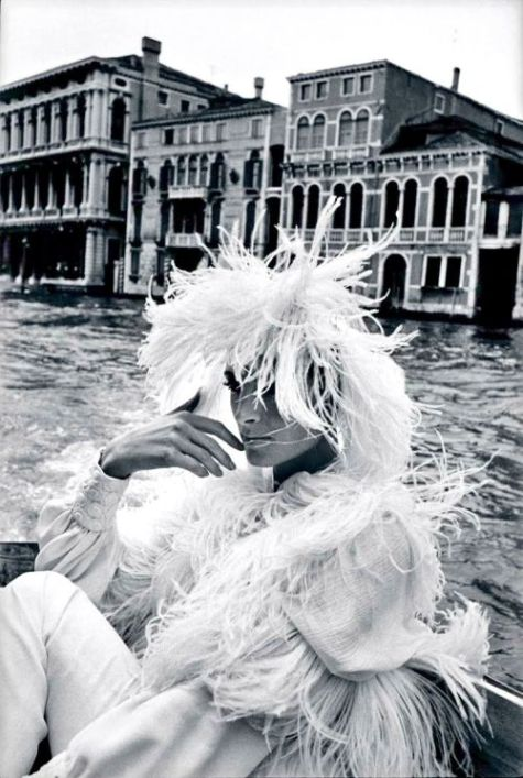 Mirella Petteni photographed by Helmut Newton in Venice, 1966