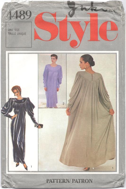 1980s Yuki dress pattern Style 4489