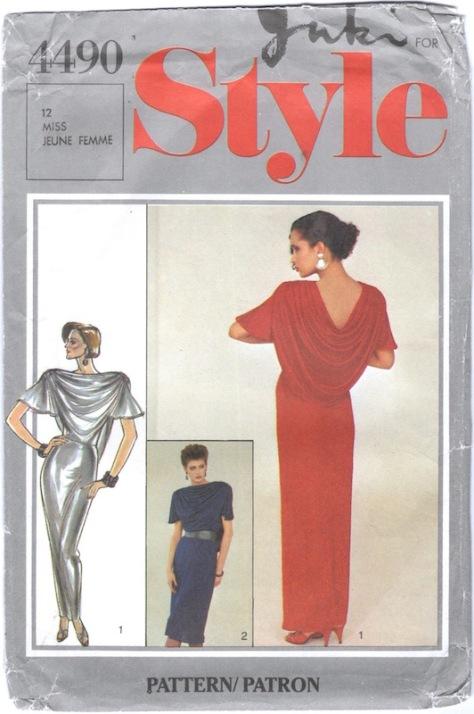1980s Yuki dress pattern Style 4490